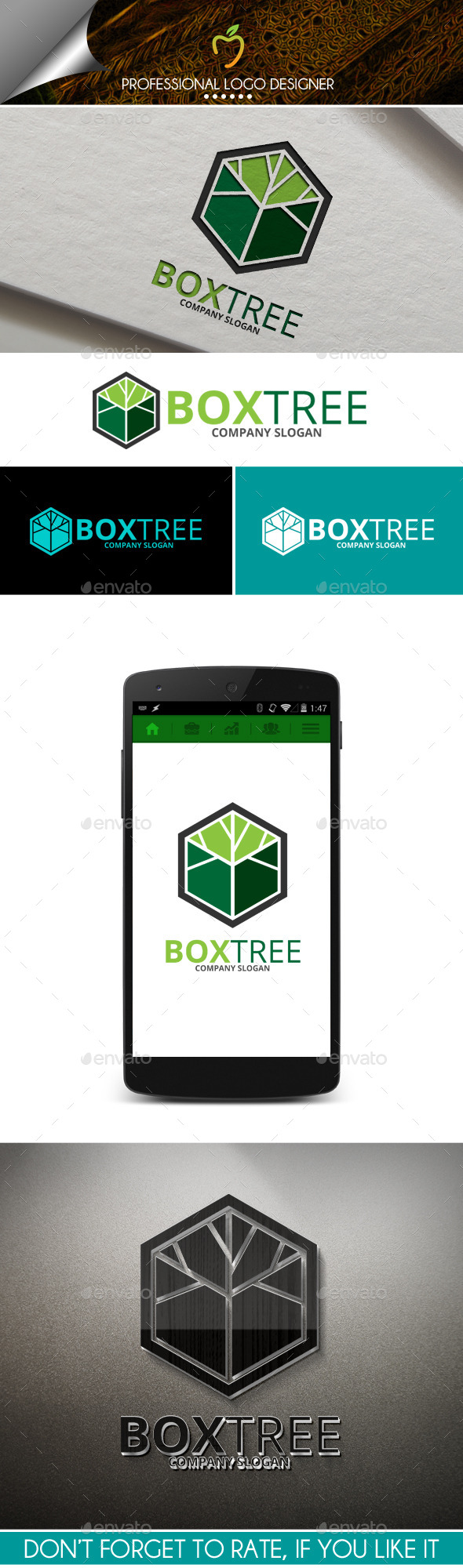 Box Tree Logo - Abstract Logo Templates