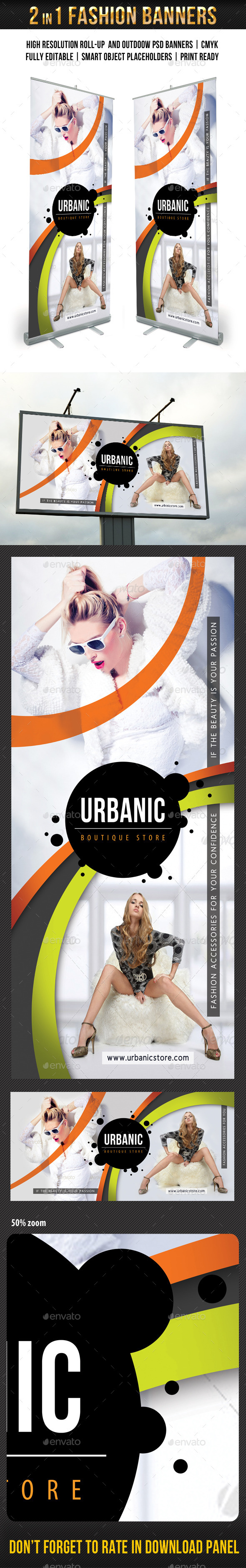 Fashion Banner Templates Pack - Signage Print Templates