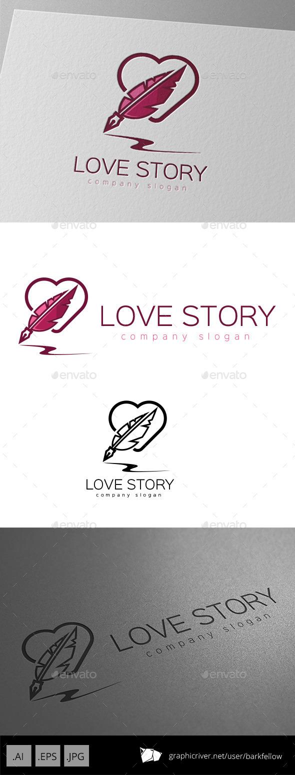 Love Story Writer Logo - Symbols Logo Templates