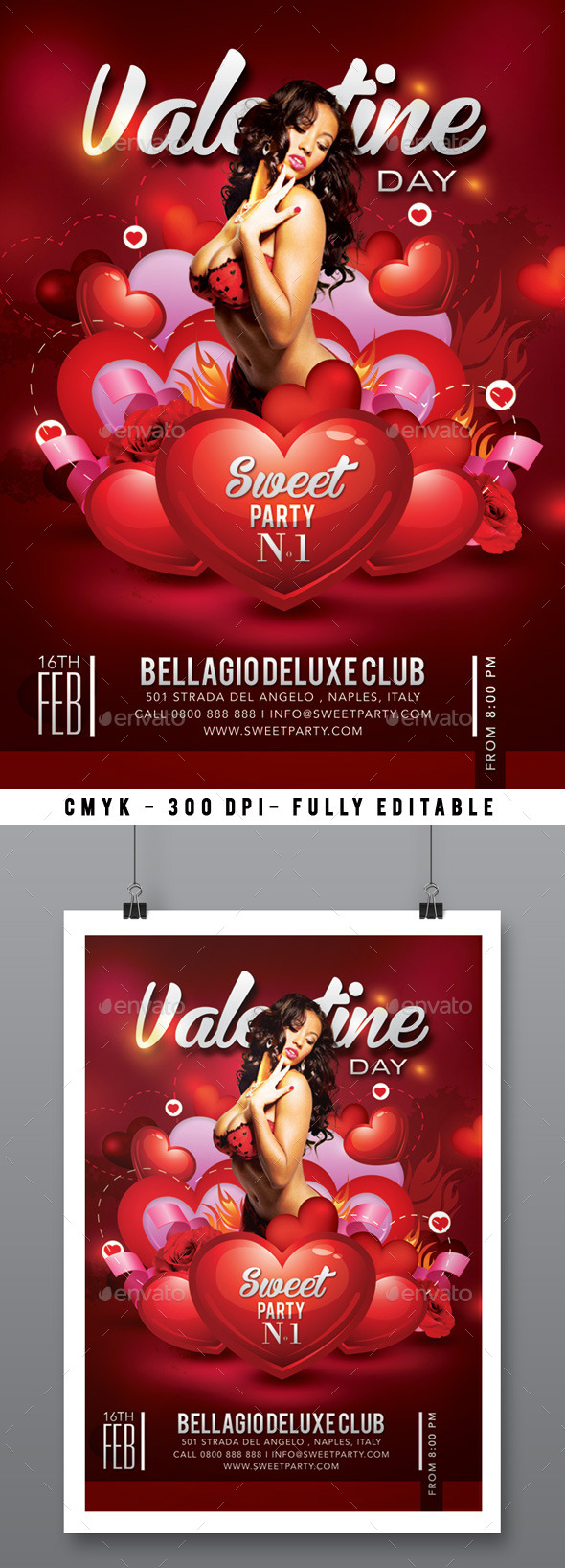 Sweet Sexy Valentine Day Party In Club - Clubs & Parties Events