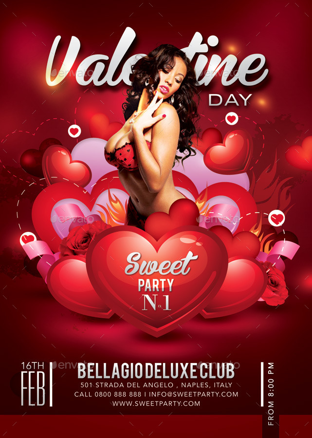 Sweet Sexy Valentine Day Party In Club By N2n44 Graphicriver