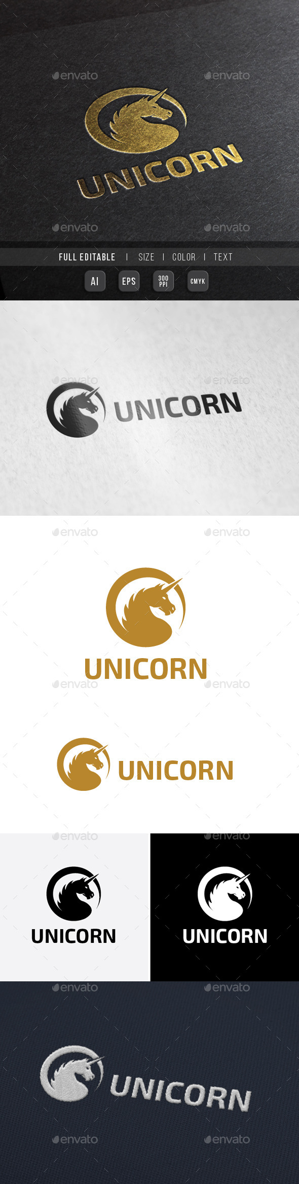Royal Knight Unicorn - Crests Logo Templates