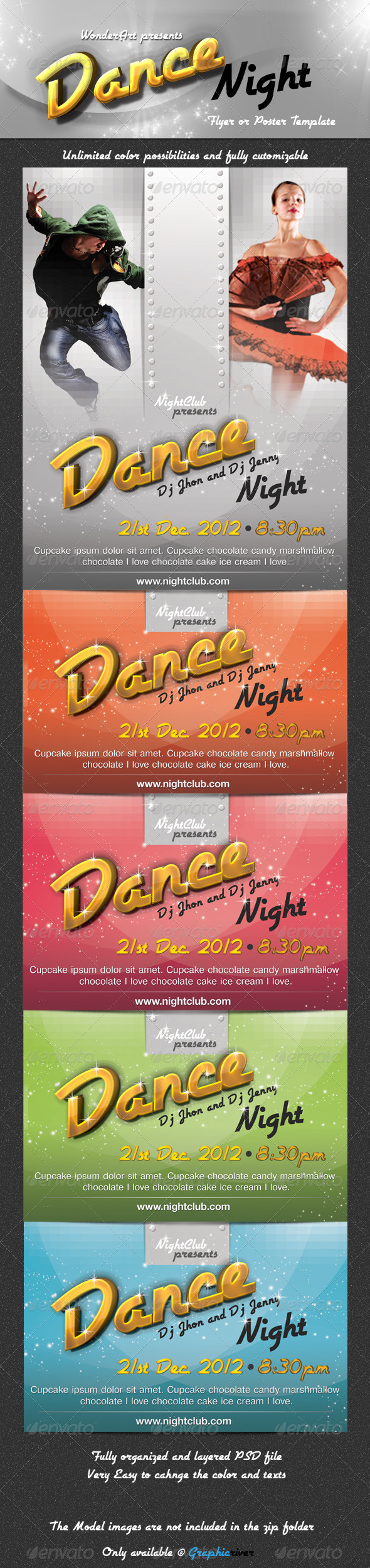 Dance Night Flyer/Poster Template - Clubs & Parties Events