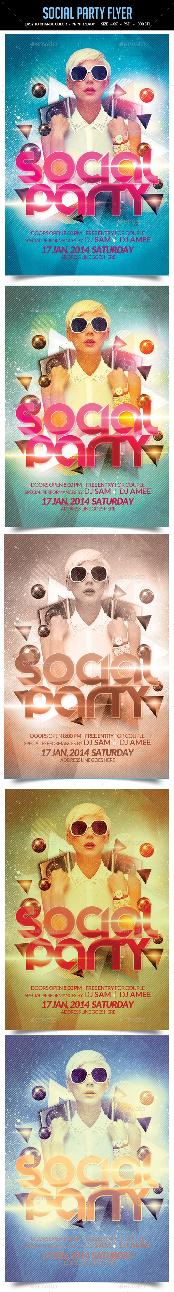 Social Party Flyer - Clubs & Parties Events
