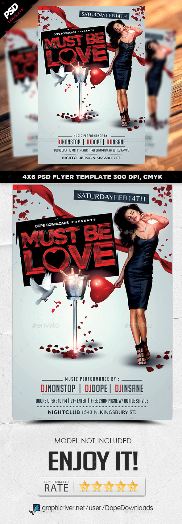 Must Be Love Valentine's Day Flyer - Holidays Events