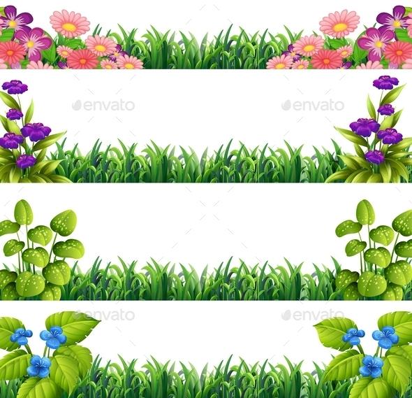 Colorful Flower Splashes - Landscapes Nature