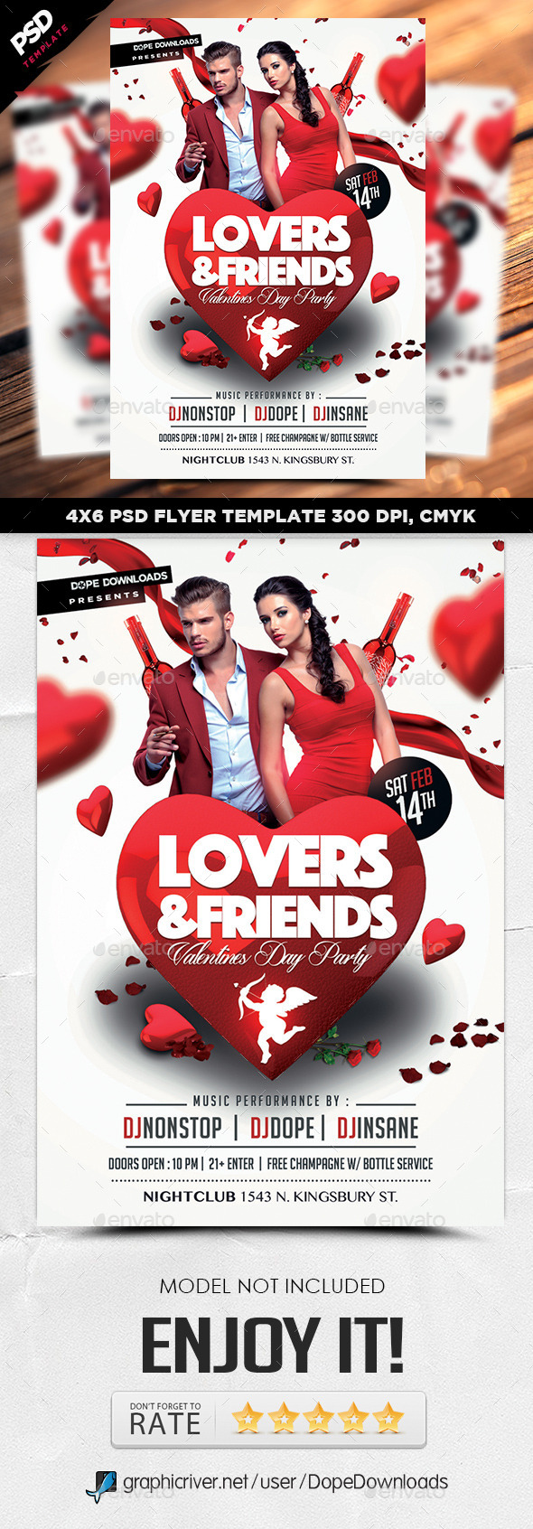 Lovers & Friends Valentine Day Flyer - Holidays Events