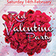 Red Valentine Party Flyer - GraphicRiver Item for Sale