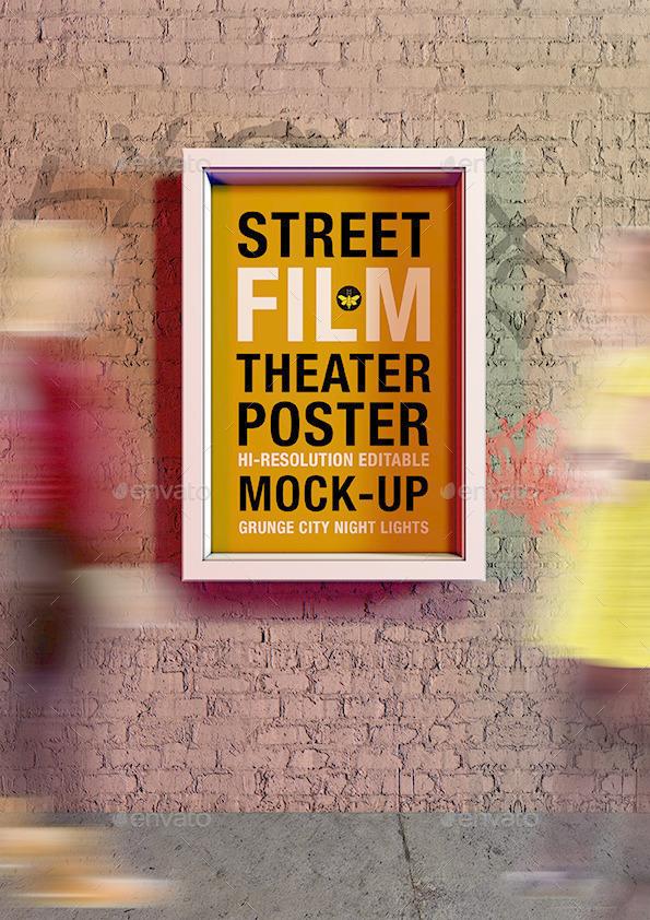 Street Film Poster Theater CitySites Mock Up 9