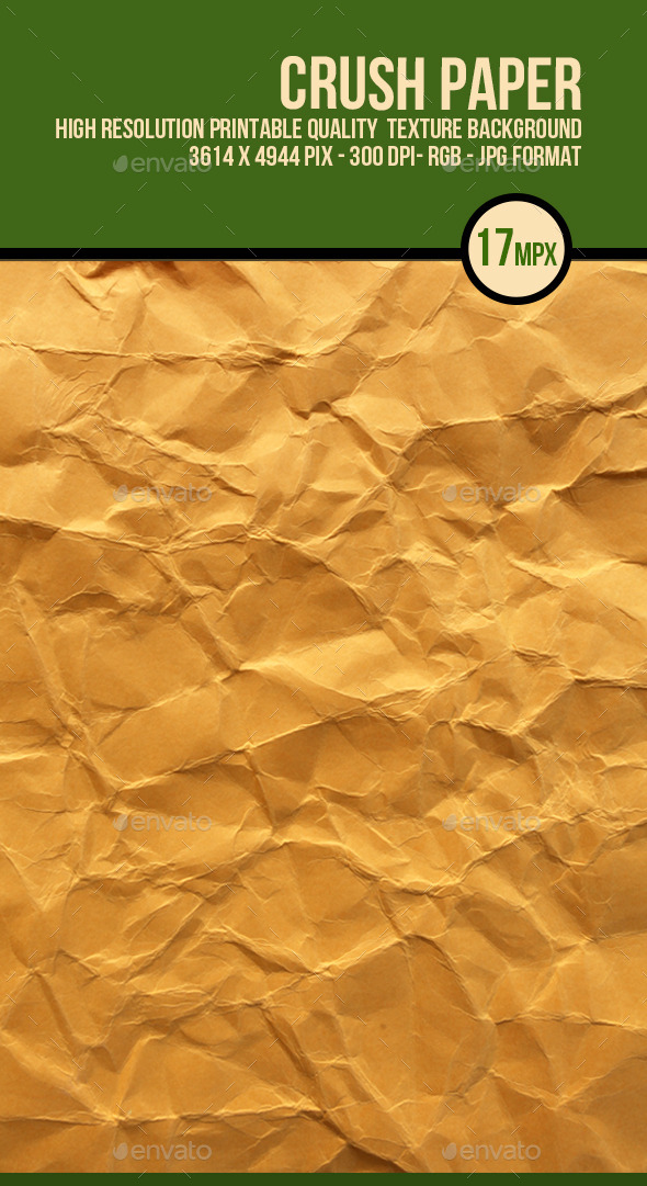 Crushed Brown Paper  - Paper Textures