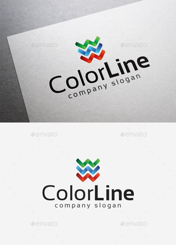 Color Line Logo - Abstract Logo Templates
