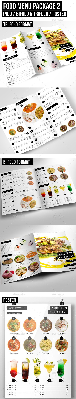 Food Menu Package 2 - Food Menus Print Templates