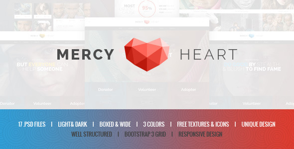 Mercy Heart - Charity PSD Template - Charity Nonprofit