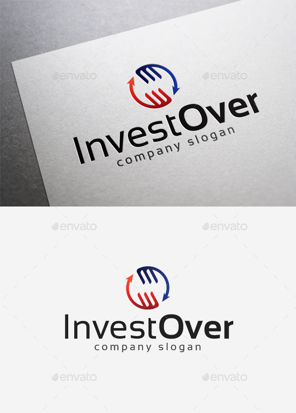 Invest Over Logo - Abstract Logo Templates