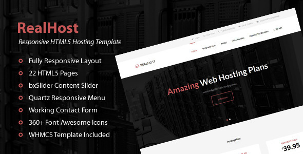 RealHost – Responsive HTML5 Hosting Template