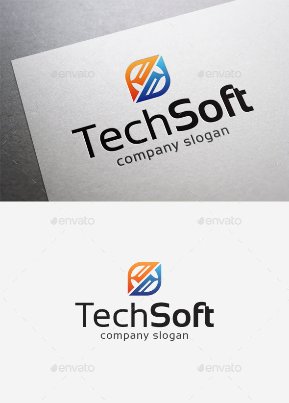 Tech Soft Logo - Abstract Logo Templates
