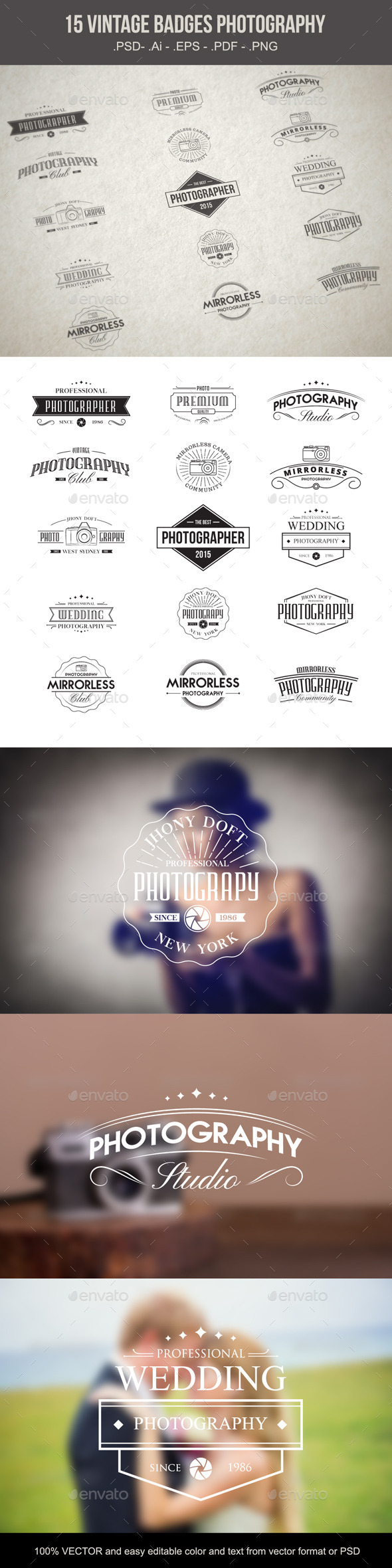 Vintage Badges Photography - Decorative Symbols Decorative