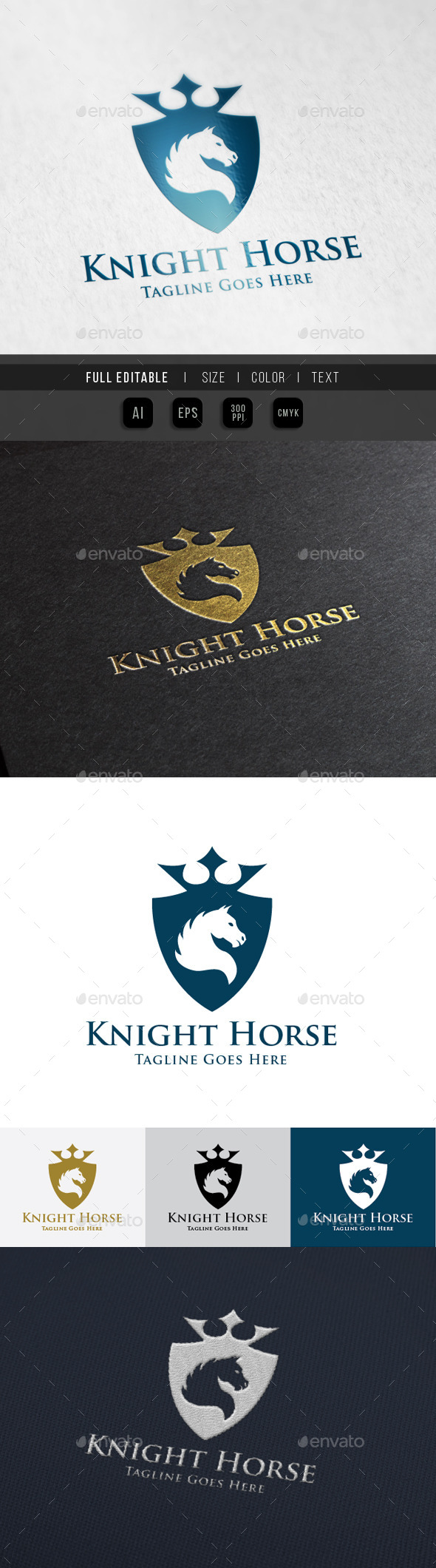 Horse Knight Shield Logo - Crests Logo Templates