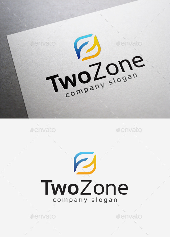 Two Zone Logo - Numbers Logo Templates