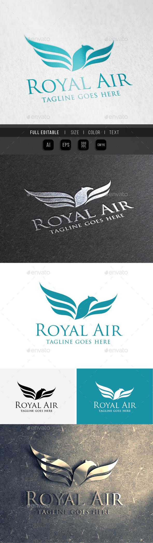 Eagle King - Royal Air - Animals Logo Templates