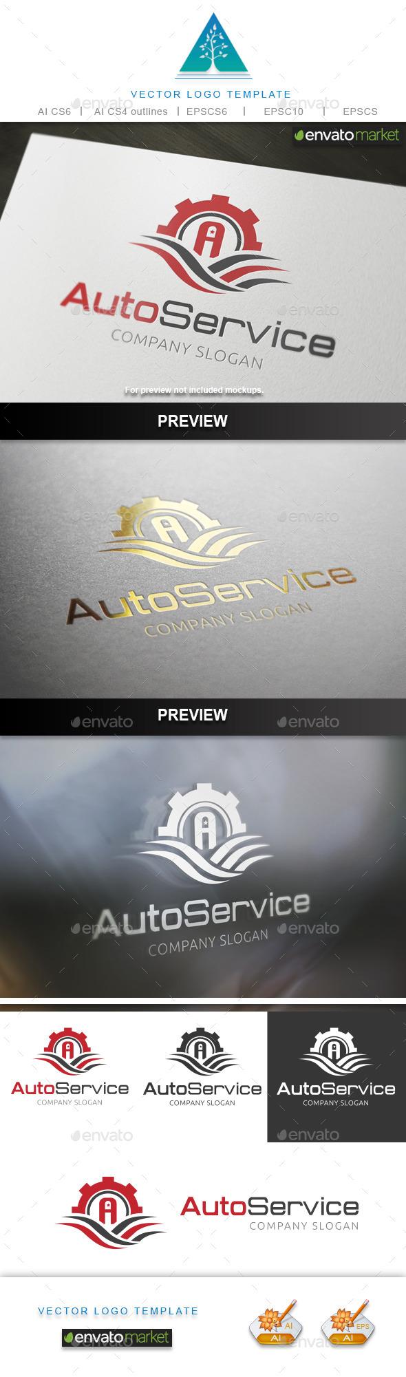Auto Service Logo - Symbols Logo Templates