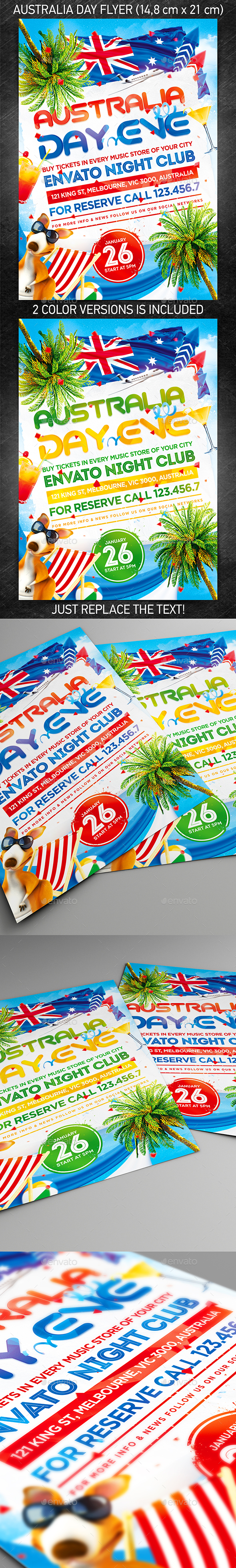 Australia Day Party Flyer - Holidays Events