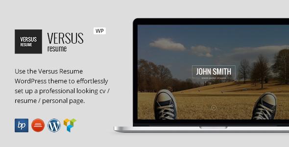 VERSUS Resume - Responsive CV WordPress Theme