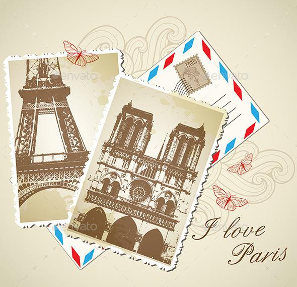 Vintage Photos of Paris - Travel Conceptual