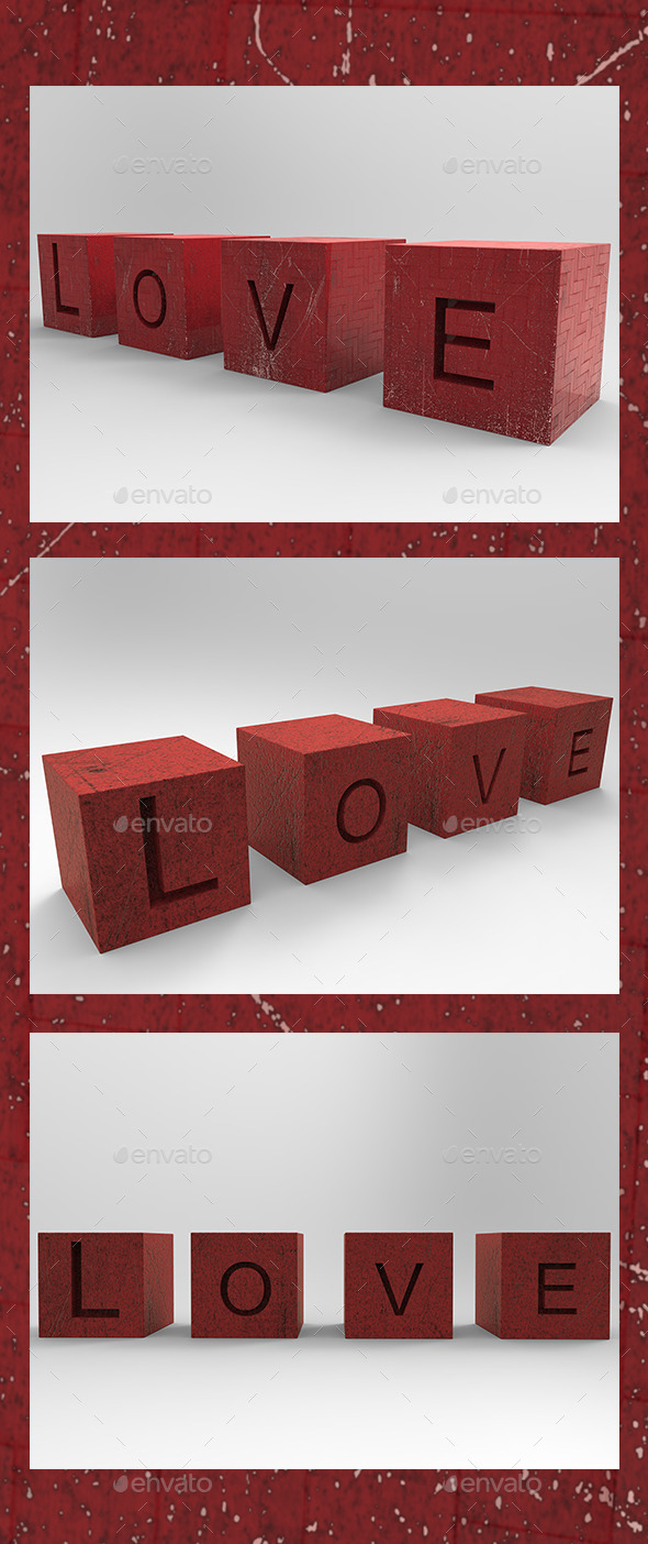 Love in 3D - 3D Backgrounds