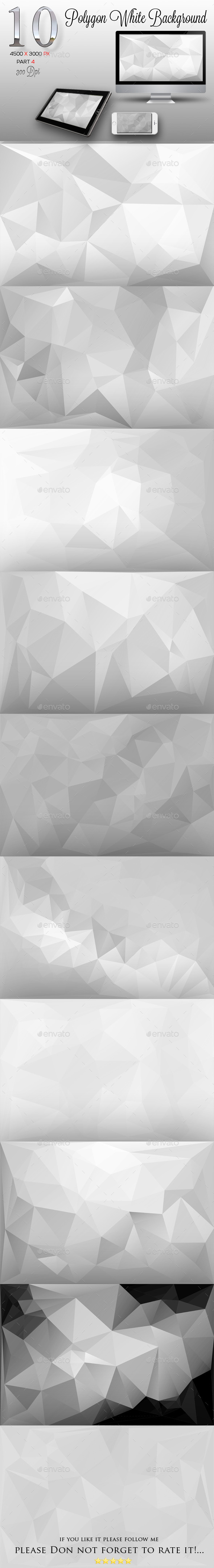 10 Polygon White Background Part 4 - Backgrounds Graphics