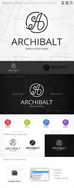 Archibalt Script Letter A Logo Template - Letters Logo Templates