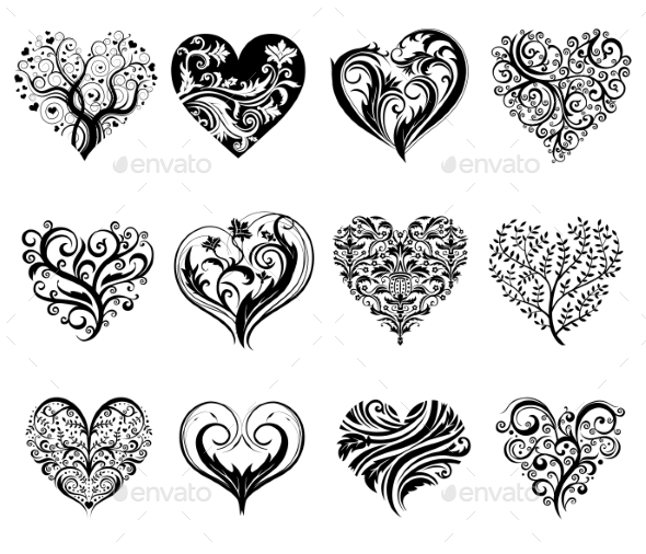 Tattoo Hearts - Tattoos Vectors