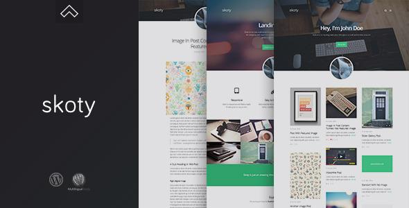 Skoty - Creative & Responsive Blog Theme - Blog / Magazine WordPress
