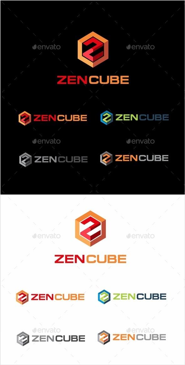 Zen Cube Logo - Letters Logo Templates