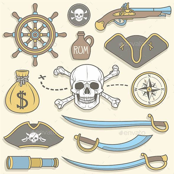 Pirates set - Vectors