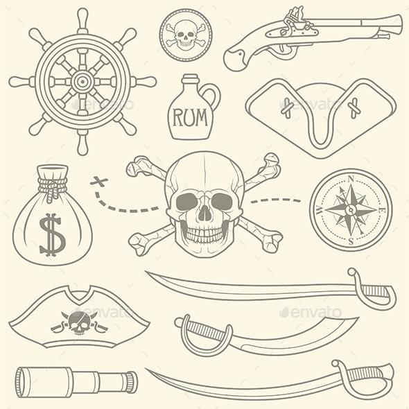Pirates Set - Vectors