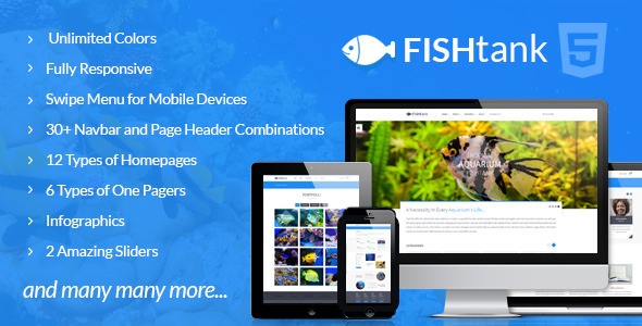 FishTank – Creative Shop HTML Template