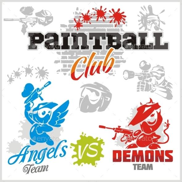 Paintball Emblems - Sports/Activity Conceptual