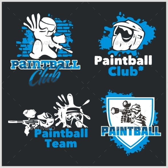 Paintball Emblems - Sports/Activity Conceptual