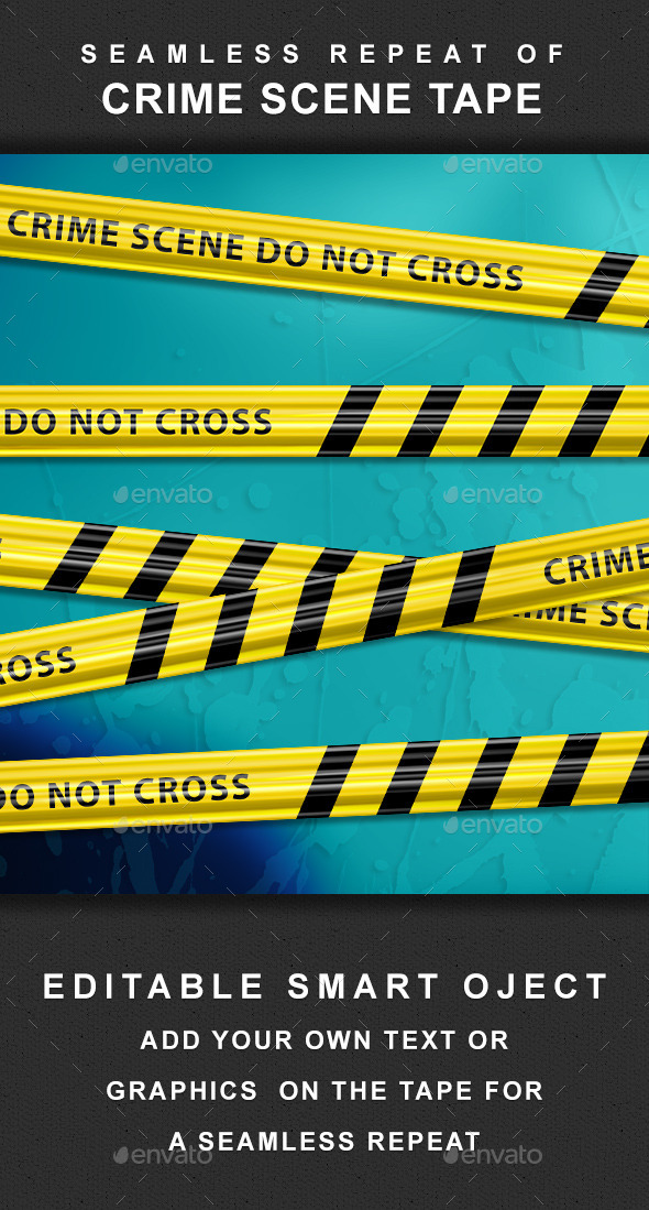 Crime Scene Tape - Seamless Repeat - Backgrounds Graphics