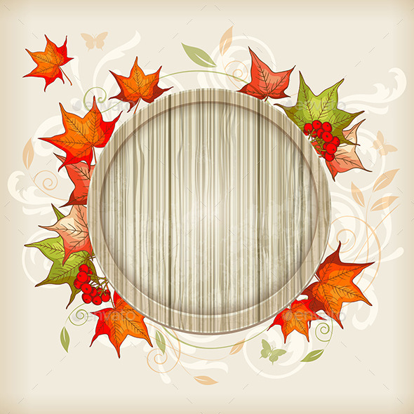 Autumn Background with Maple Leaves - Seasons Nature
