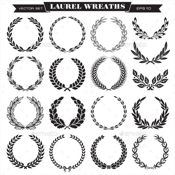 Laurel Wreaths Vector - Decorative Symbols Decorative