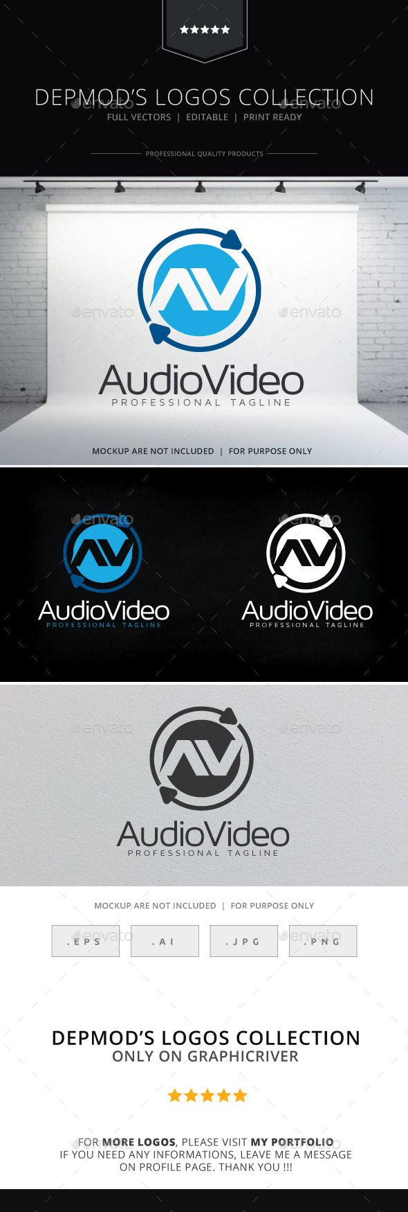 Audio Video Logo - Abstract Logo Templates