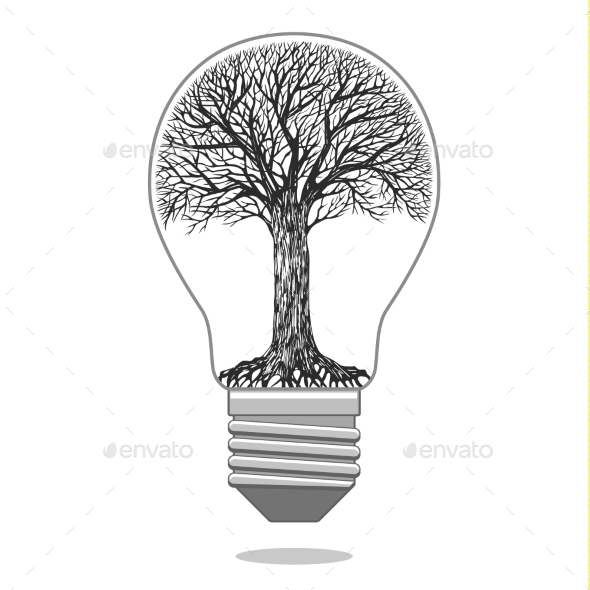 Eco Bulb - Nature Conceptual