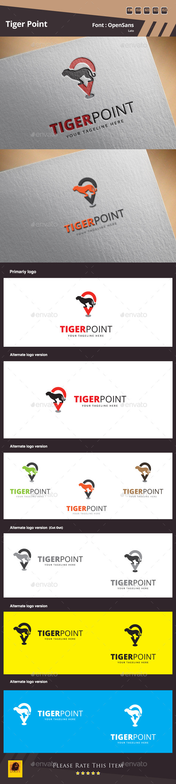 Tiger Point Logo Template - Symbols Logo Templates