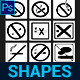 No Smoking Custom Shapes - GraphicRiver Item for Sale