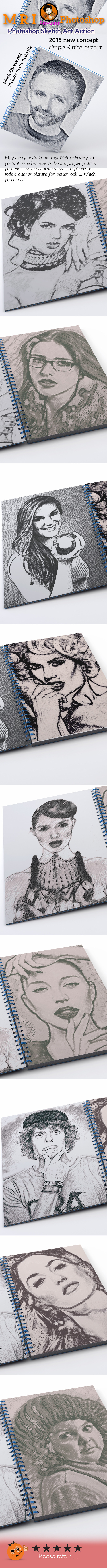 Photoshop Sketch Art Action - Photo Effects Actions