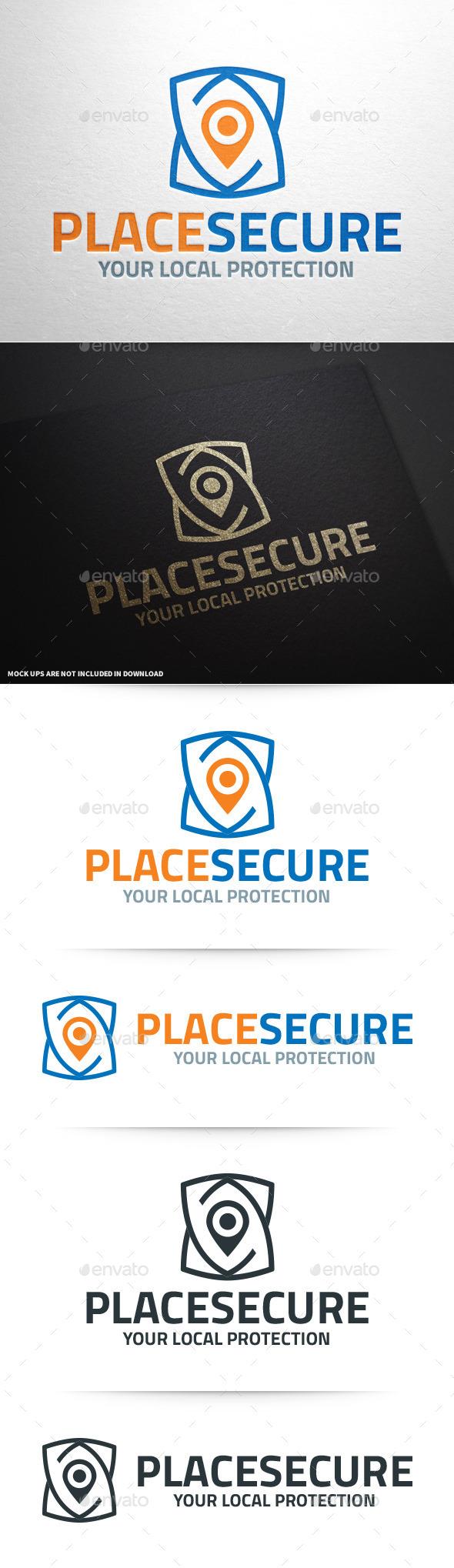 Place Secure Logo Template - Symbols Logo Templates