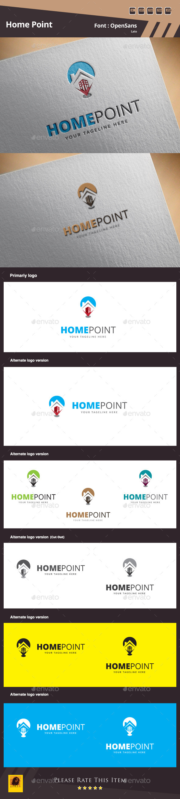 Home Point Logo Template - Symbols Logo Templates