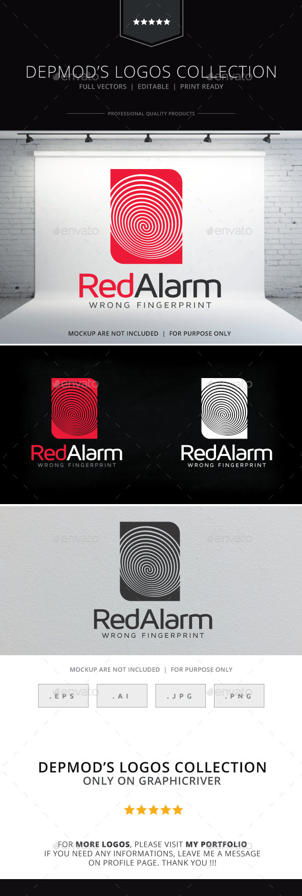 Red Alarm Logo - Objects Logo Templates